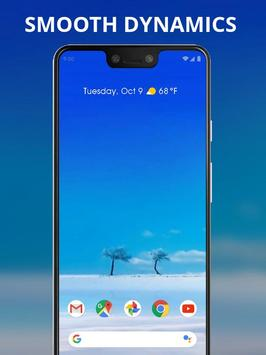 Pure blue sky trees live wallpaper screenshot 1
