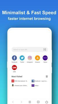 Pure Web Browser-Ad Blocker,Video Download,Private screenshot 1