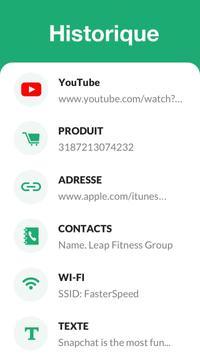 Lecteur et scanner de code QR - gratuit capture d'écran 2