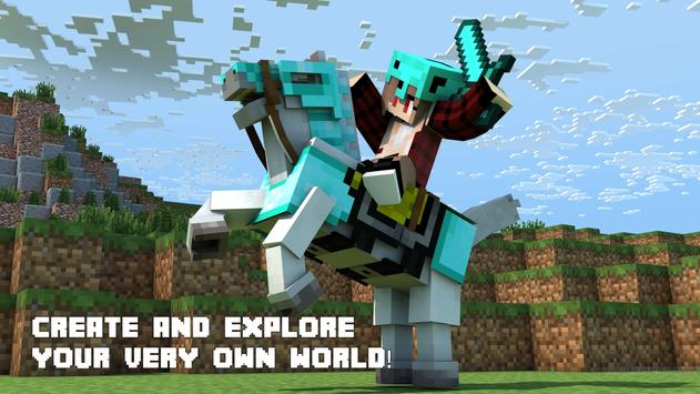 World of Minecraft Plakat
