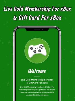 Live Gold Membership For xBox & Gift Card For xBox poster