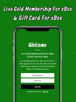 Live Gold Membership For xBox & Gift Card For xBox screenshot 1
