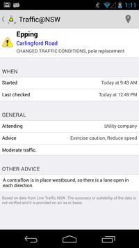 Traffic@NSW screenshot 1
