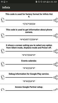 Secret Codes of infinix for Android - APK Download