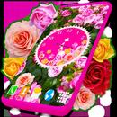 Roses Analog Clock Wallpaper APK