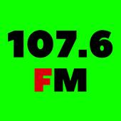 107.6 FM Radio Stations Online App Free icon