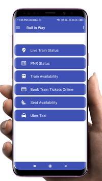 Indian Railway - Train live status, PNR & enquiry poster