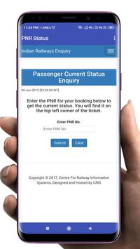 Indian Railway - Train live status, PNR & enquiry screenshot 3