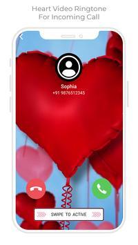 Heart Color Call - Heart Video Ringtone screenshot 1