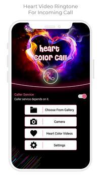 Heart Color Call - Heart Video Ringtone screenshot 4