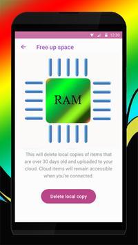 70 GB Ram memore booster pro screenshot 1