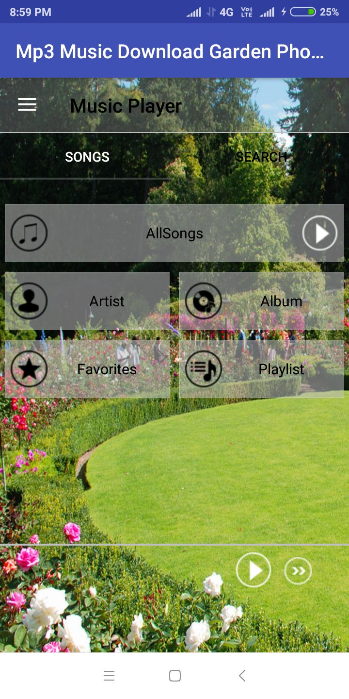 Mp3 Music Download With Garden Photos For Android Apk Download