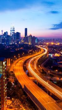 City Skyline Live Wallpaper تصوير الشاشة 1