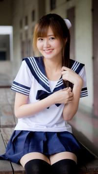 Japanese Girl Live Wallpaper Plakat