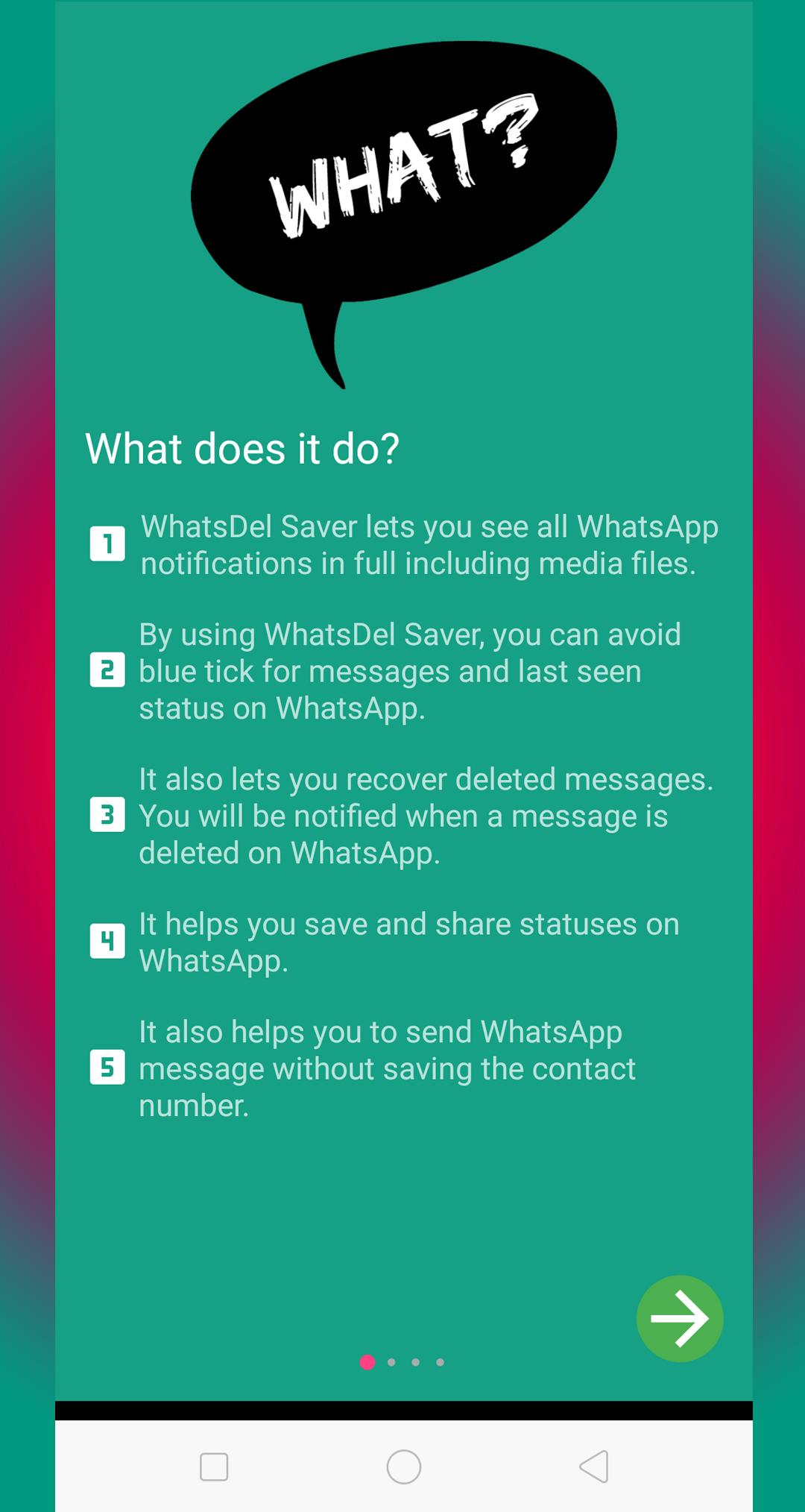 WhatsDel Saver for WhatsApp users for Android - APK Download
