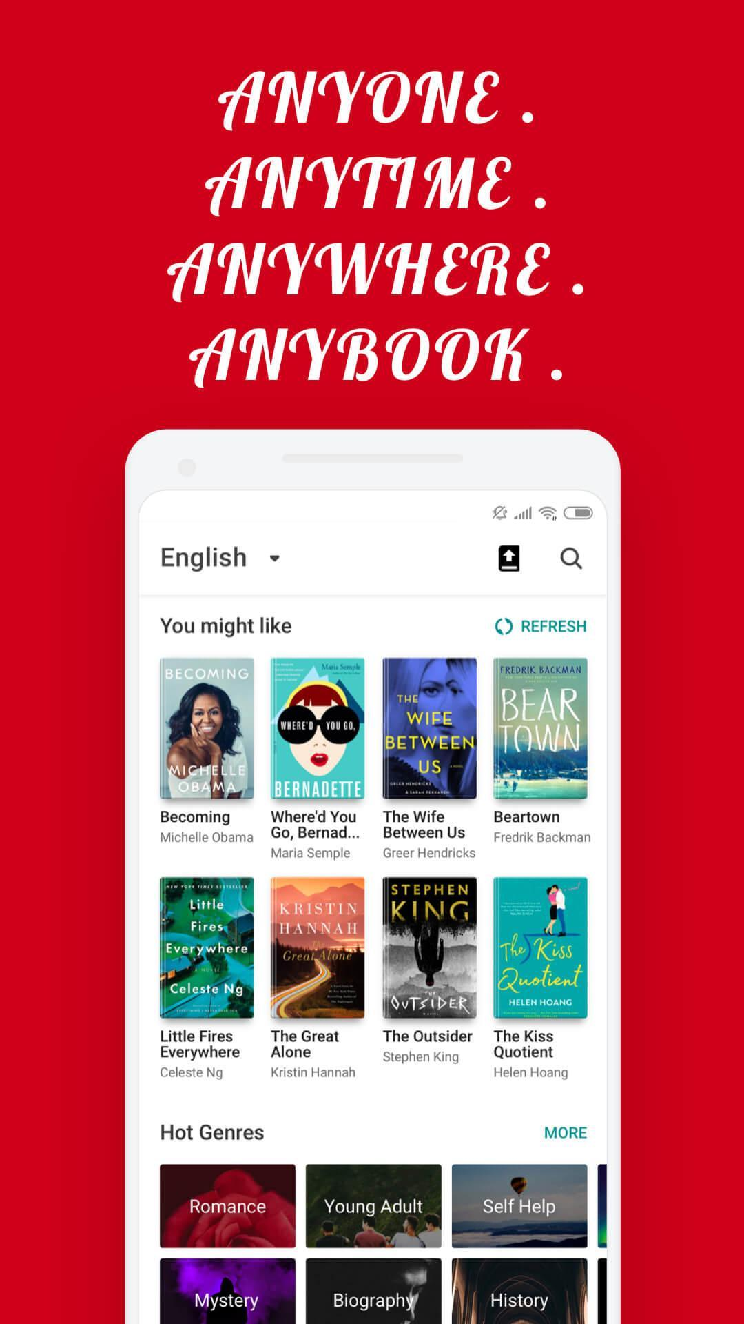 Read free books, novels offline - AnyBooks for Android - APK