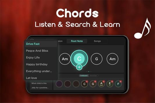 Real Guitar - Free Chords, Tabs & Simulator Games تصوير الشاشة 6