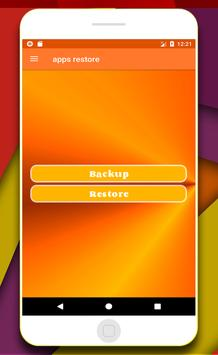 apps recovery & backup poster