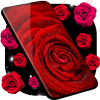 Red Rose Live Wallpaper 🌹 HQ Background Changer icono