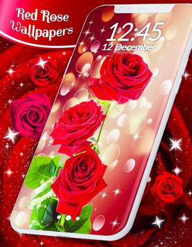 Red Rose Live Wallpaper Affiche