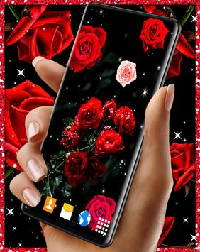 Red Rose Live Wallpaper capture d'écran 7