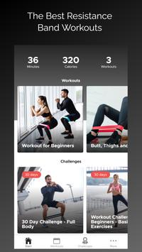 Resistance Band Workout Routine poster