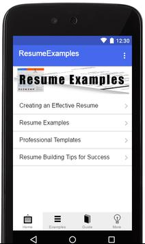 Resume Examples 2019 poster