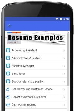 Resume Examples 2019 screenshot 1