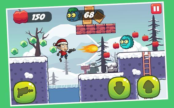 Mr Santa Bean Mr Christmas Games: Bean in the snow screenshot 1