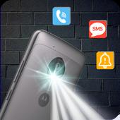 Flash Alerts on Call & SMS - Ringing Flashlight icon