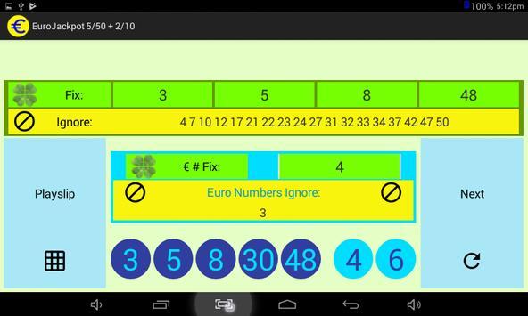 EuroJackpot 5/50 + 2/10 screenshot 6