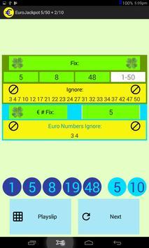 EuroJackpot 5/50 + 2/10 screenshot 2