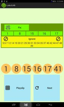 Lotto 6/49 screenshot 3