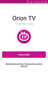 Orion TV Poster
