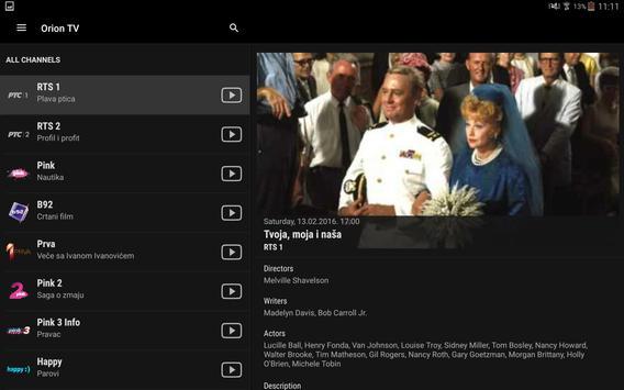 Orion TV captura de pantalla 18