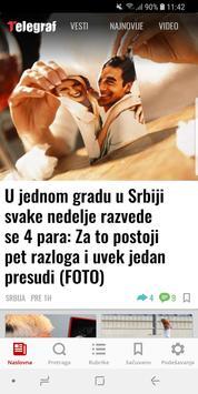 Telegraf Najnovije Vesti poster