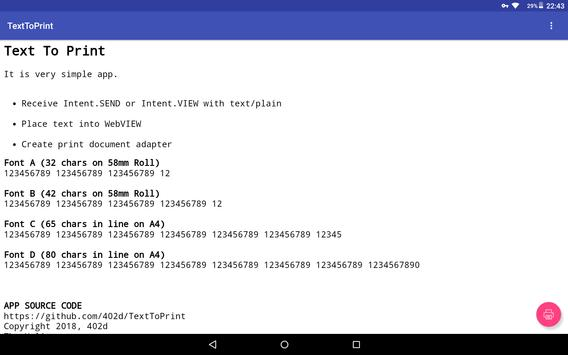 Text To Print for Android - APK Download
