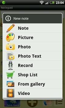 Bloc-notes capture d'écran 4