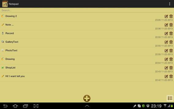 Bloc-notes capture d'écran 6