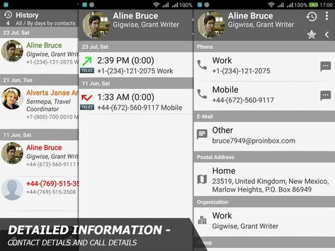 Phone and Contacts - AGContacts, Lite edition screenshot 4