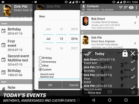 Phone and Contacts - AGContacts, Lite edition screenshot 6