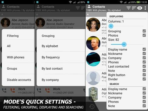 Phone and Contacts - AGContacts, Lite edition screenshot 1