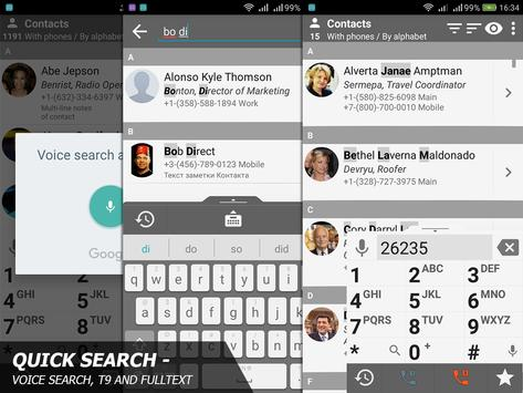 Phone and Contacts - AGContacts, Lite edition screenshot 3