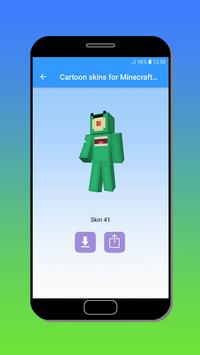 Cartoon skins for Minecraft MCPE poster
