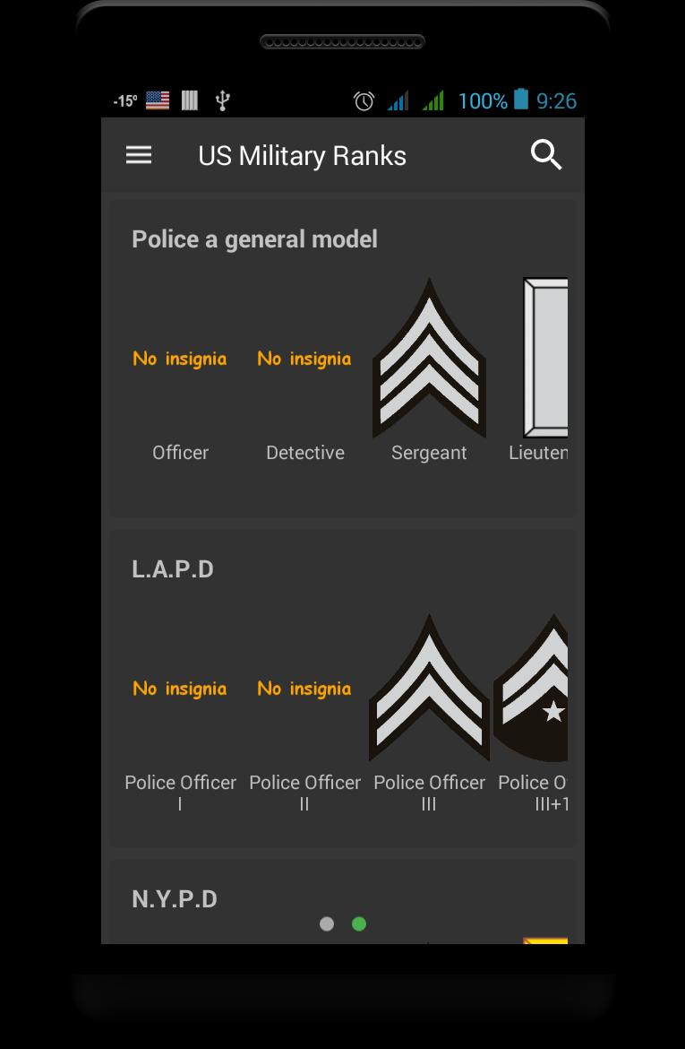 Law Enforcement Ranks >> Us Military Ranks For Android Apk Download