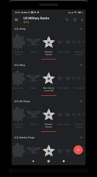 6 Schermata US military ranks