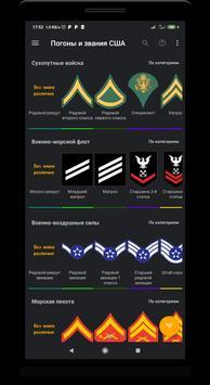 Погоны и звания США постер