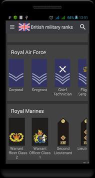 British military ranks 스크린샷 1