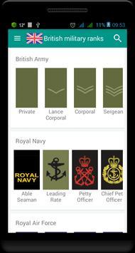 British military ranks 스크린샷 4
