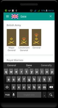 British military ranks 스크린샷 5